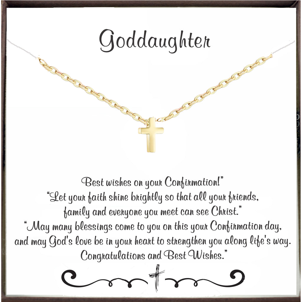 Confirmation Cross Necklace for Goddaughter