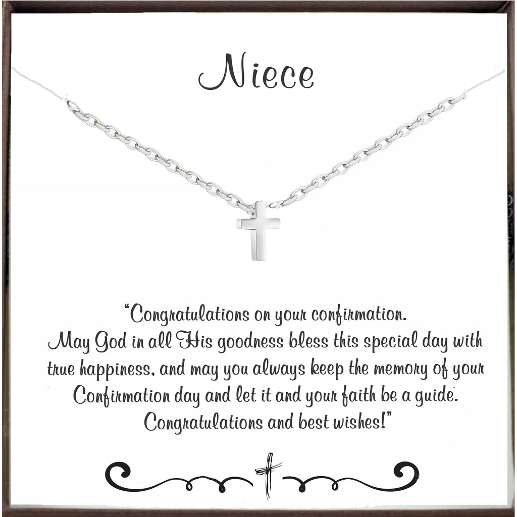 To my Niece - Confirmation Necklace with Cross