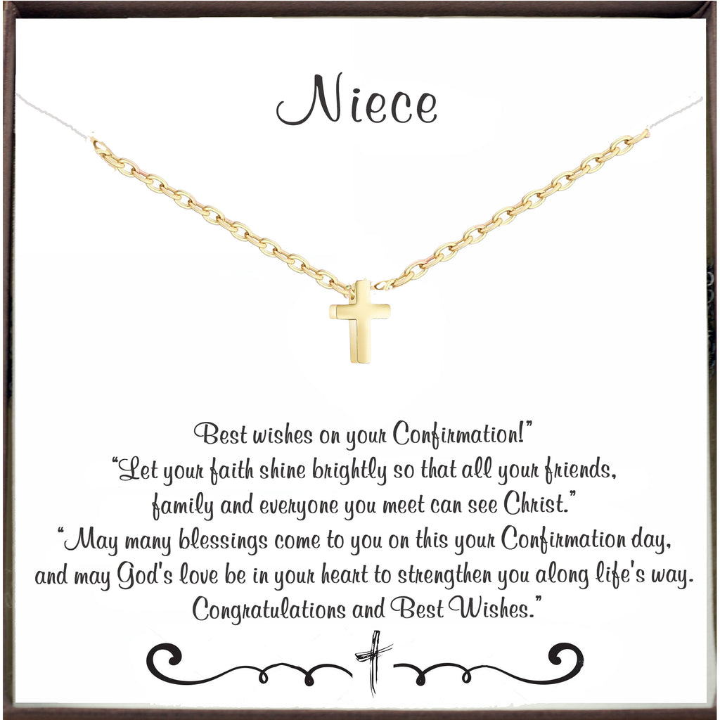 Confirmation Cross Necklace for Niece