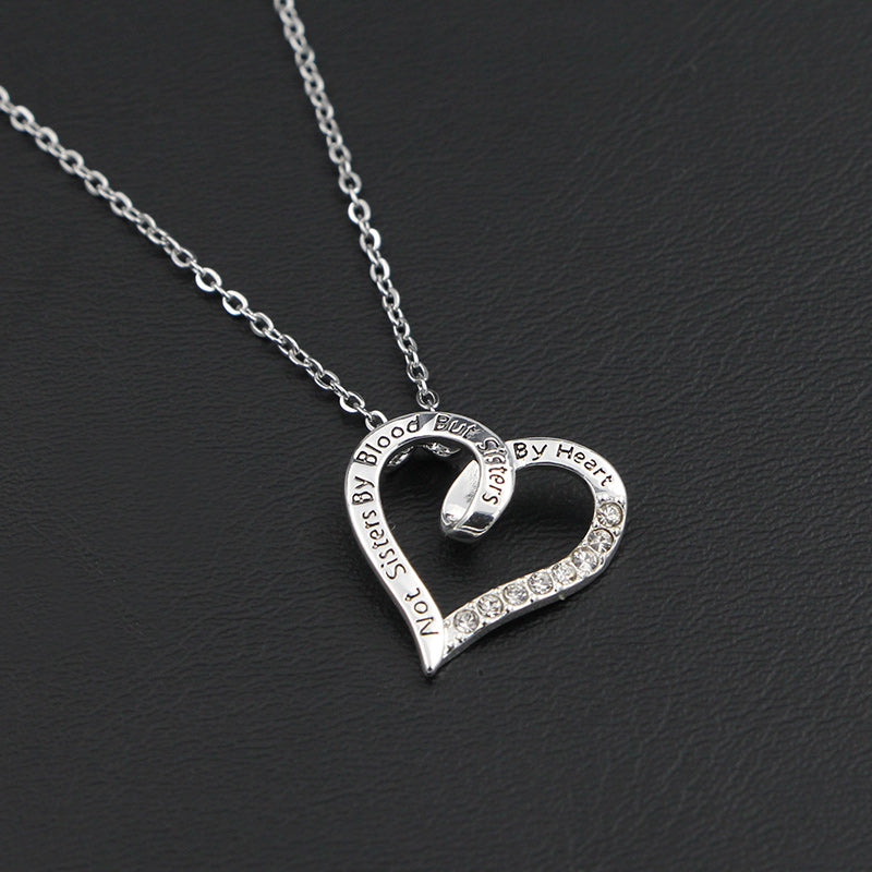 To my Unbiological Sister - Heart Necklace