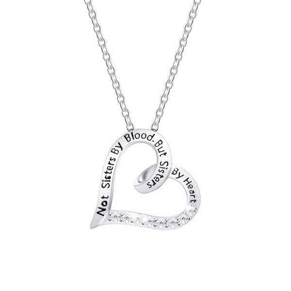 Not Sisters by Blood but Sisters by Heart Necklace
