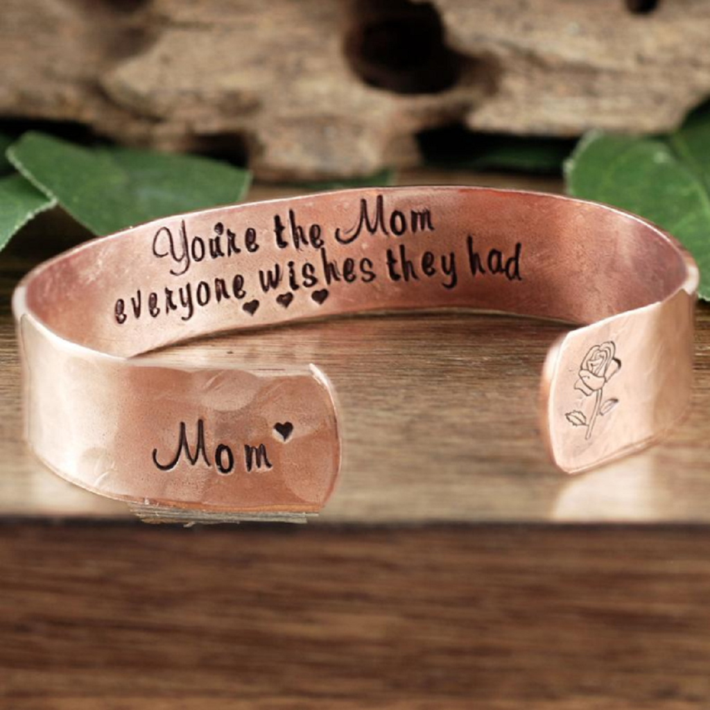 Personalized Mother's Cuff Bracelet