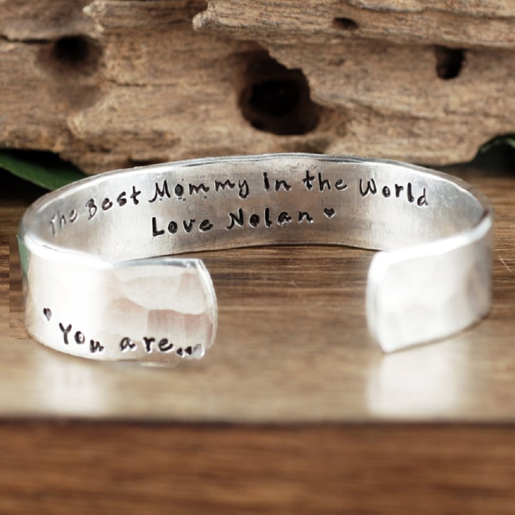 'The Best Mommy In The World' Cuff Bracelet