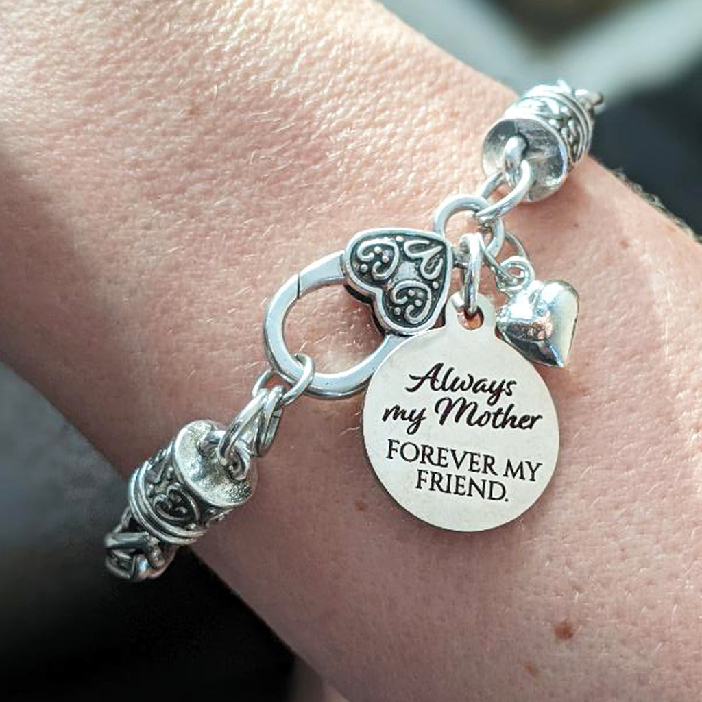 Always my Mother Forever my Friend Silver Bracelet