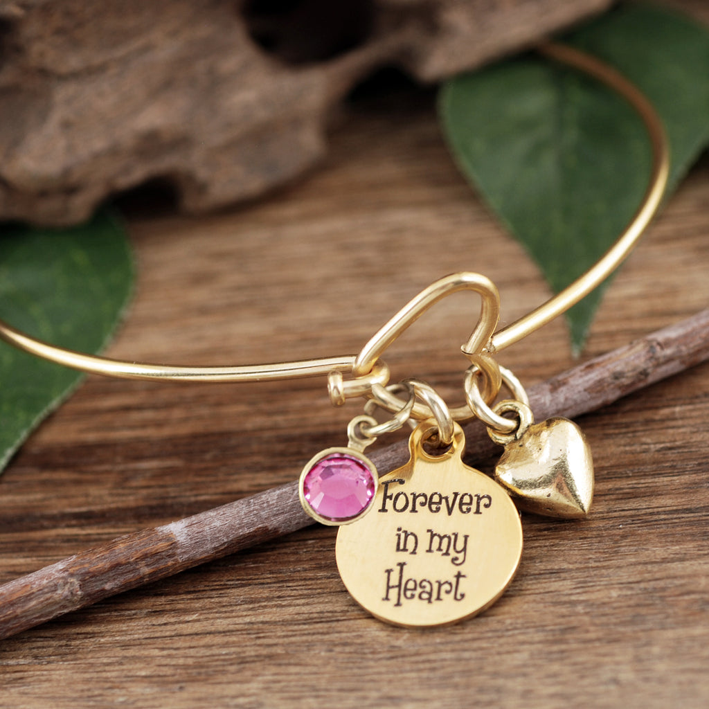 Forever in my Heart Memorial Bracelet