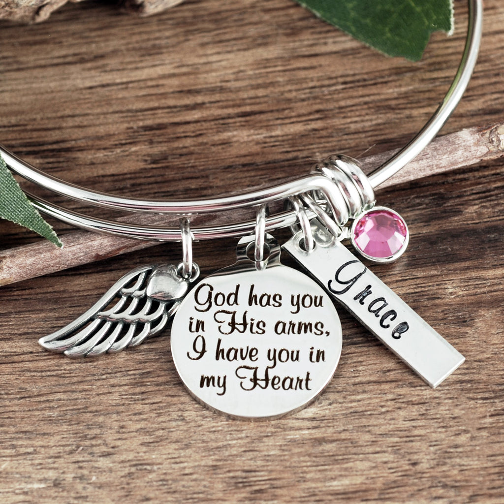 God has you in His arms I have you in my Heart Bracelet