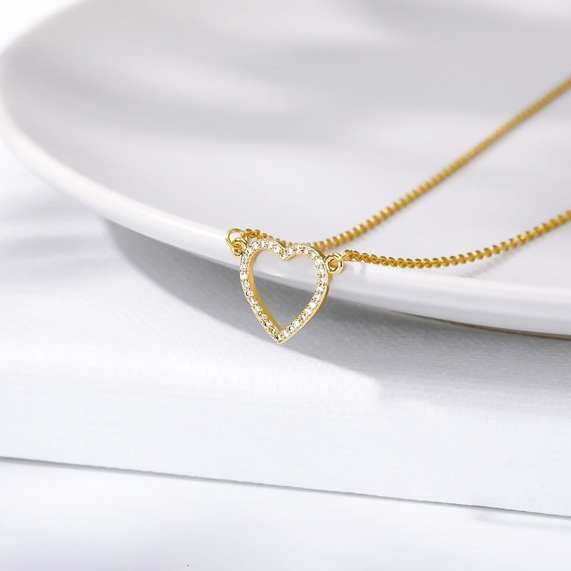 To my Daughter -  Gold Crystal Heart Necklace