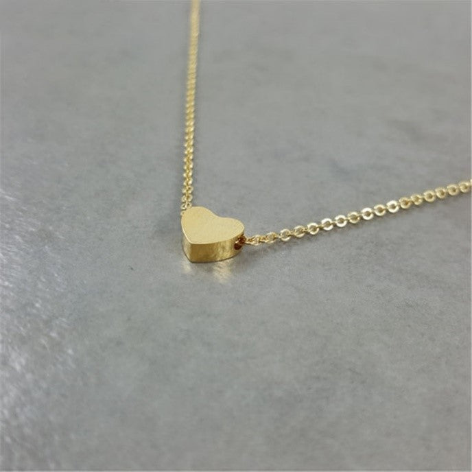 Gold Heart Necklace for Niece