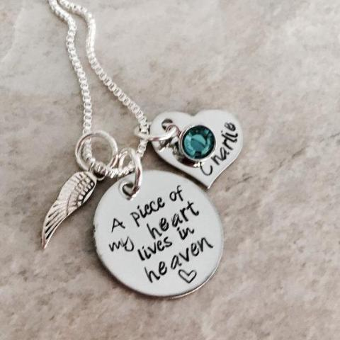 Piece Of My Heart Remembrance Necklace