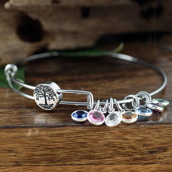Family Tree Birthstone Bracelet