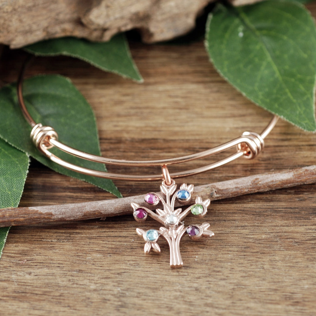 Family Tree Charm Bangle