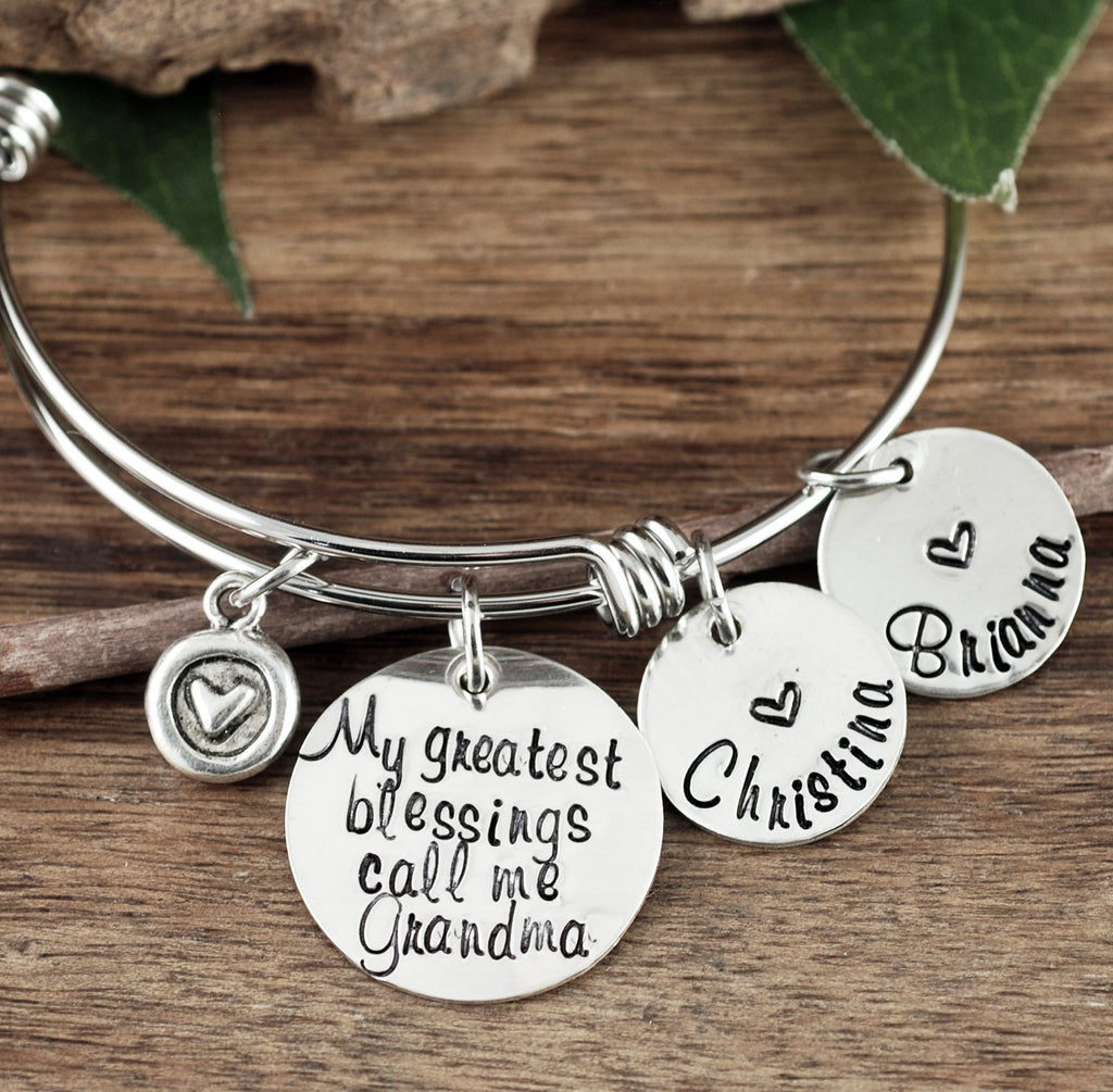 'My Greatest Blessings' Bracelet w/ Name Tags