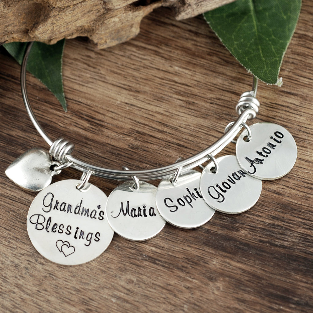 Grandma's Blessings Bracelet w/ Name Tags