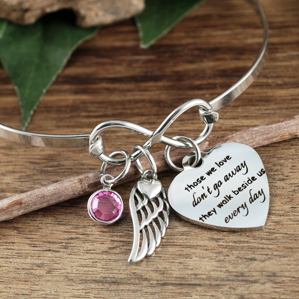 Those we love don't go away Memorial Bracelet