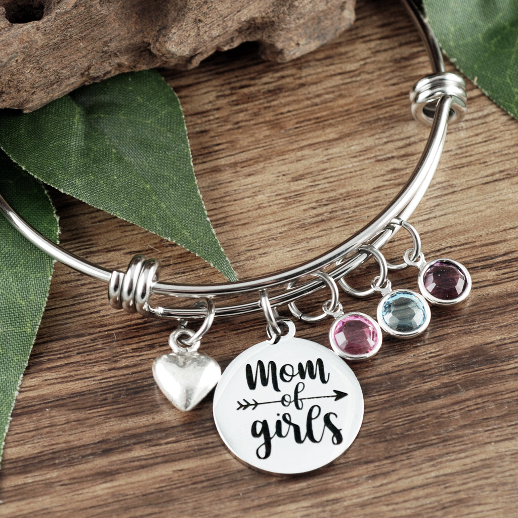 Mom of Boys/Girls Birthstone Bracelet