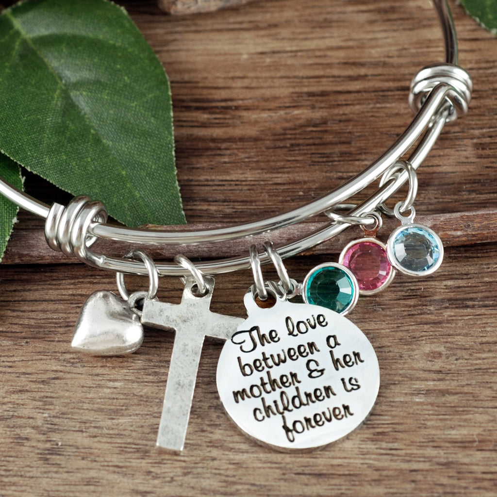 Personalized Birthstone Bracelet For Mom