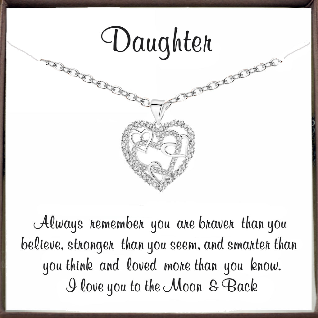 To my Daughter - Inspirational Heart Necklace
