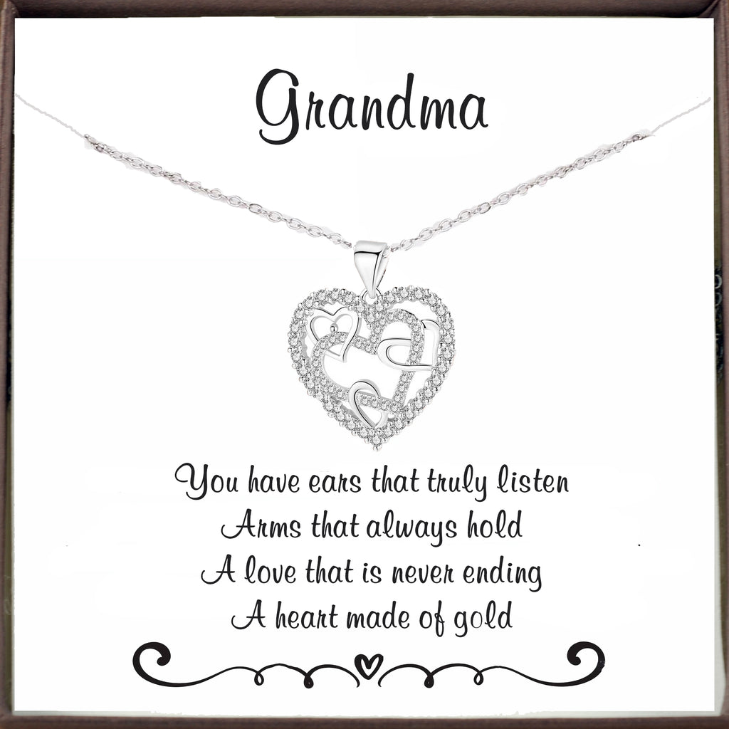 To my Grandma - Inspirational Heart Necklace