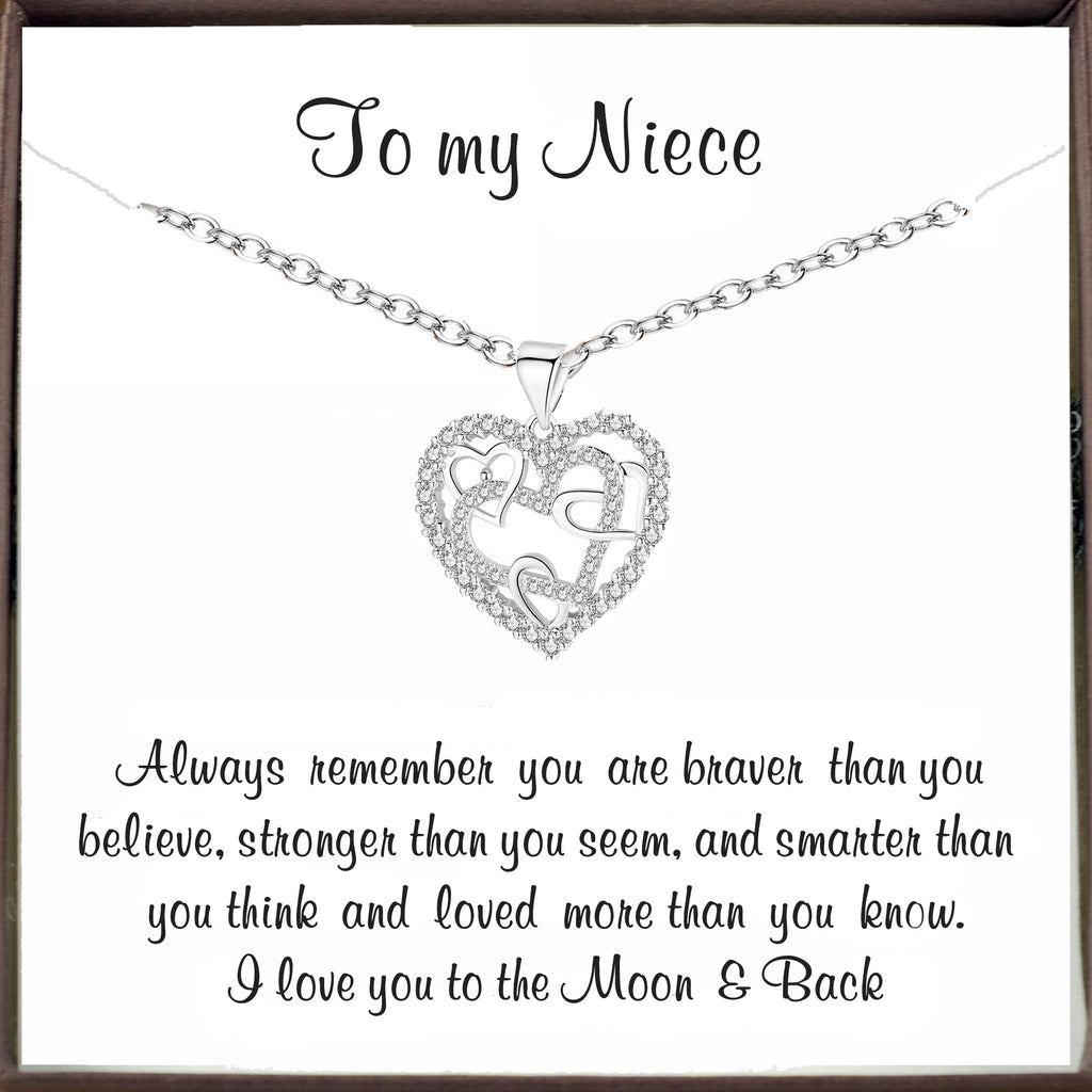 To my Niece - Inspirational Heart Necklace