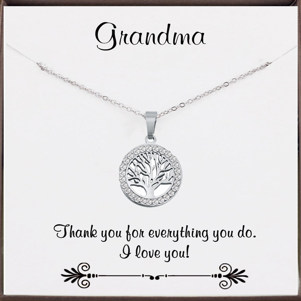 Family Tree Necklace for Grandma