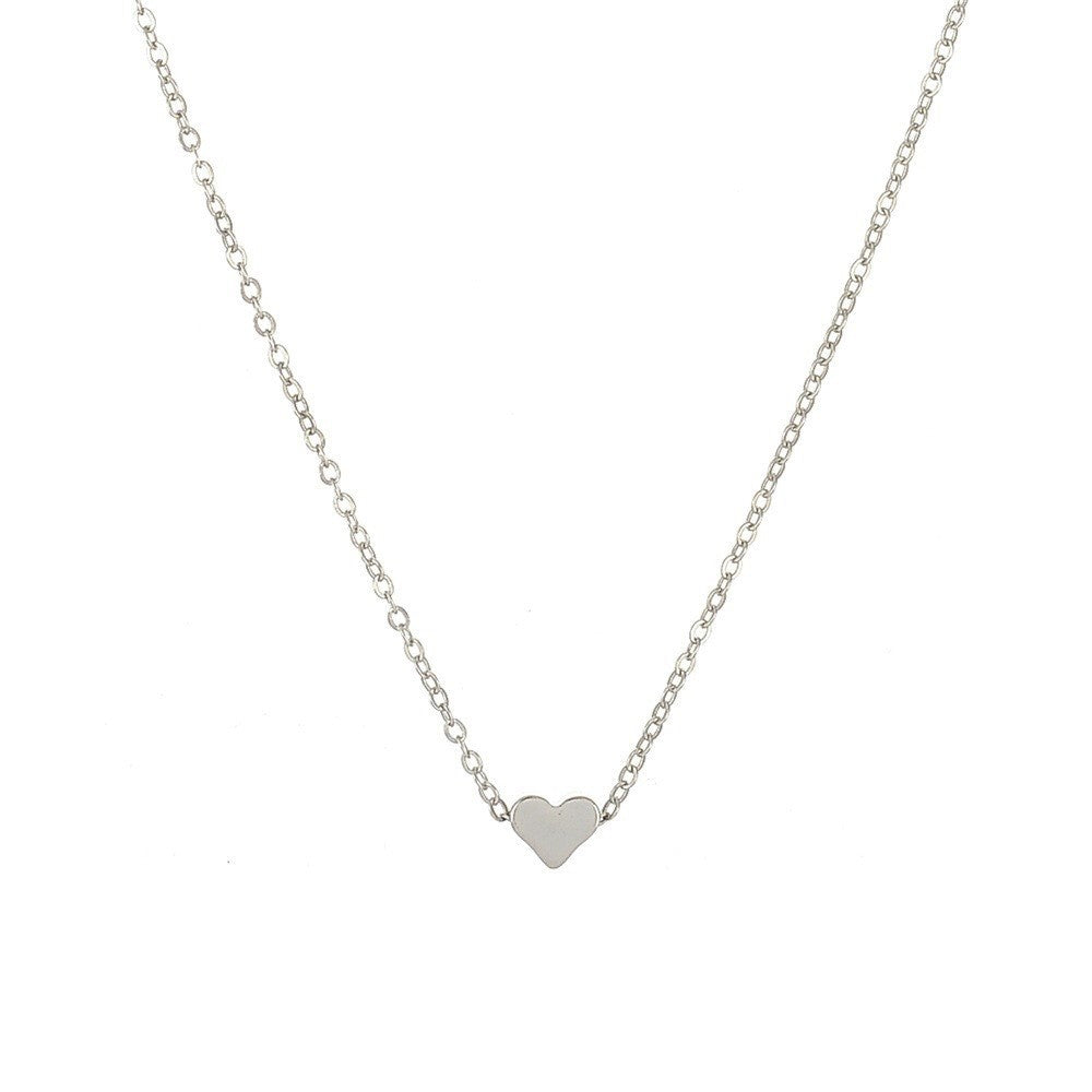 Gold Heart Necklace for Mom