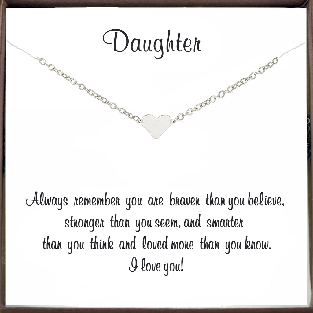 Inspirational Heart Necklace for Daughter