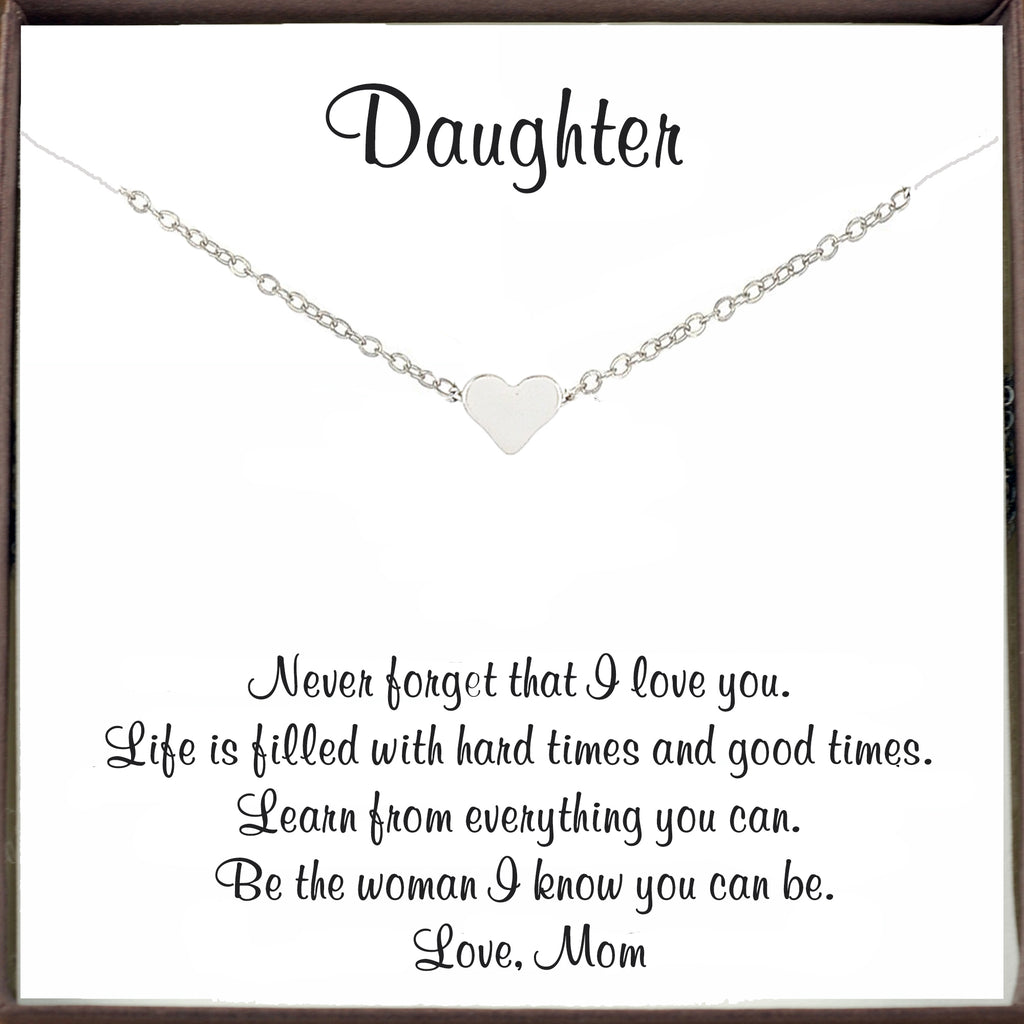 Dainty Heart Necklace for Daughter