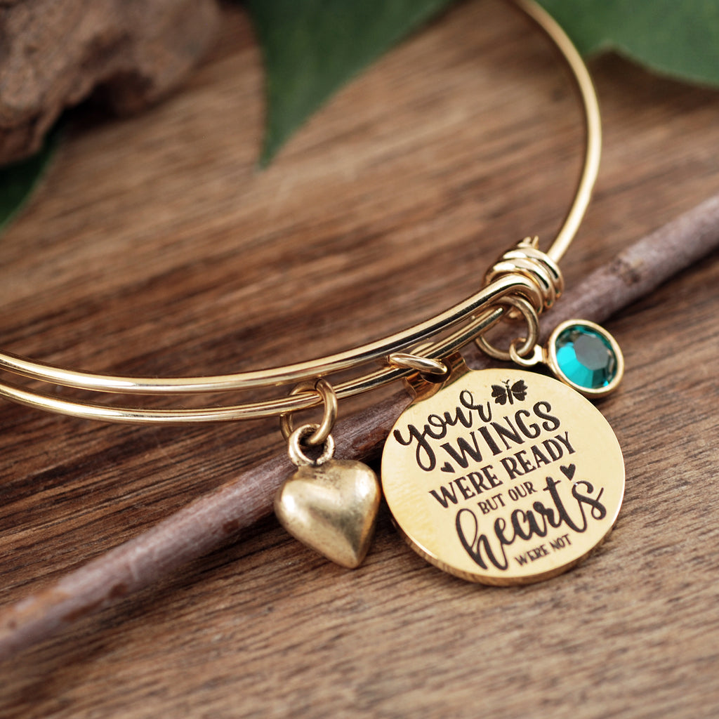 Your wings were ready but our Hearts were not Memorial Bracelet