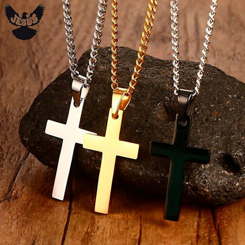 New Gold Cross Necklace