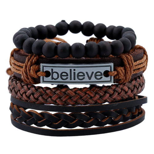 Multilayer Vintage Leather Bracelet