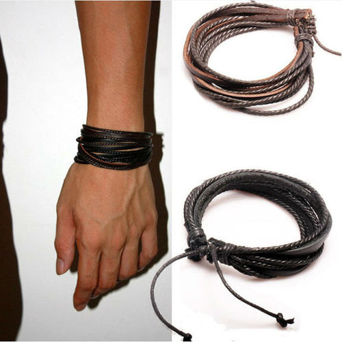 Hand Made Rope Leather Bracelet