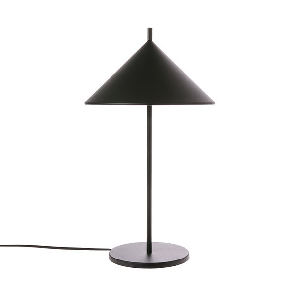 Lampe de table métal triangle noire mate  - HKliving