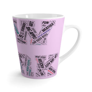 """New York""  Latte mug"
