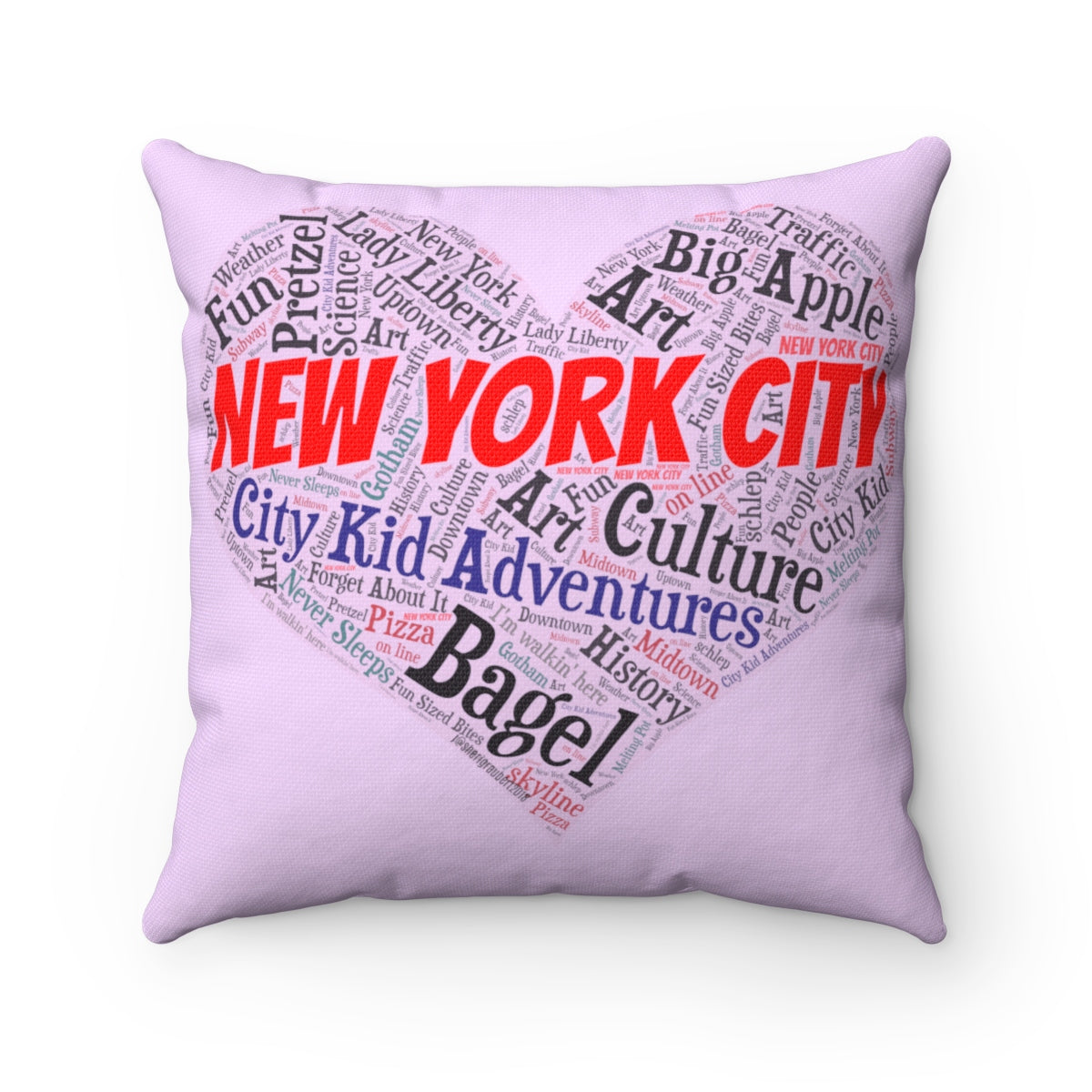 I Heart New York Spun Polyester Square Pillow