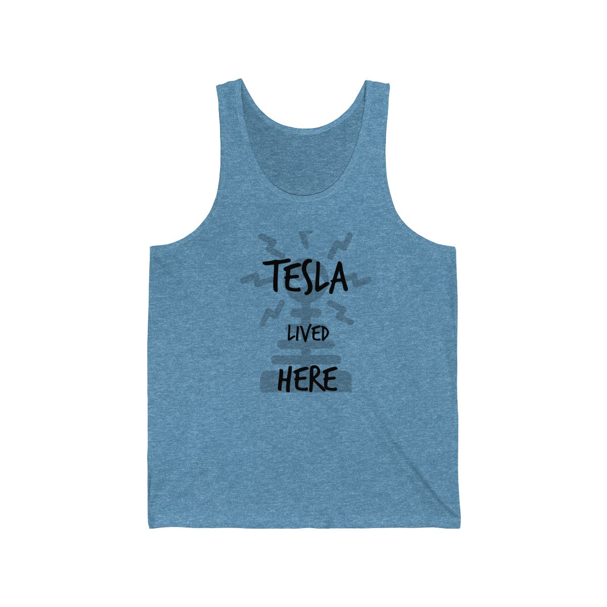 """Tesla Lived Here"" NYC Greats Unisex Jersey Tank"