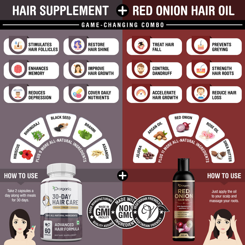 hair capsules and oil for hair growth