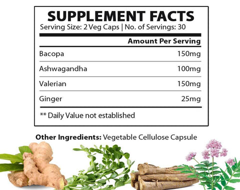 stress relief supplement facts