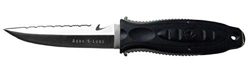 Aqua Lung Big Squeeze Drop Point Stainless Steel Knife