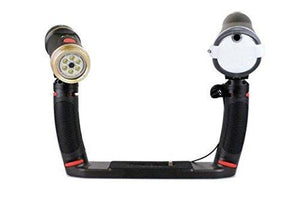 SeaLife SL964 Sea Dragon Duo 2300 UW Photo/Video LED Dive Light & Flash Set with Flex-Connect Dual Tray & Arm Grips