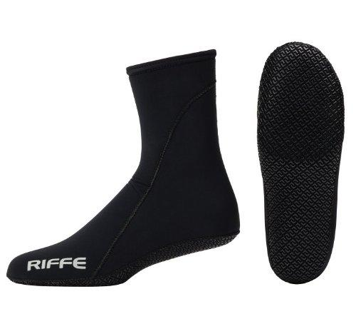 Riffe 2mm Neoprene Sock w/Sole - Great for Scuba Divers, Snorklers and Watersports