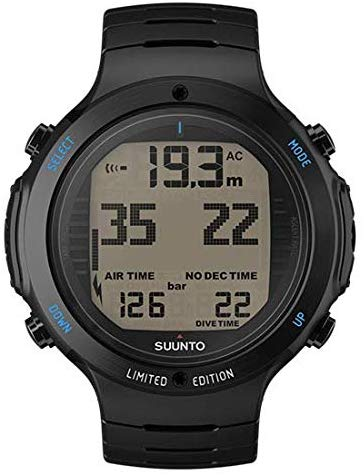 Suunto D6I Novo All Black Steel Limited Edition w/USB Wireless Tank Pressure Transmitter Led w/DiveCatalog's Sticker