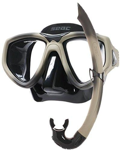Seac Scuba Diving Snorkeling Freediving Combat Mask Snorkel Set