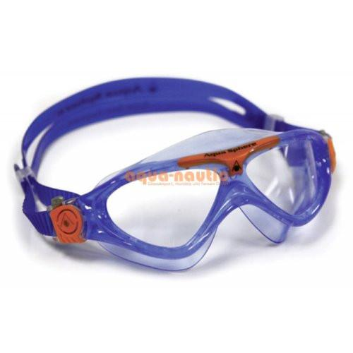 Aqua Sphere VISTA JR. Goggles Clear Lens Blue/Orange