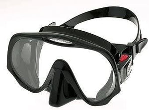 Atomic Aquatics Scuba Diving Frameless Mask, All Black, Standard Fit
