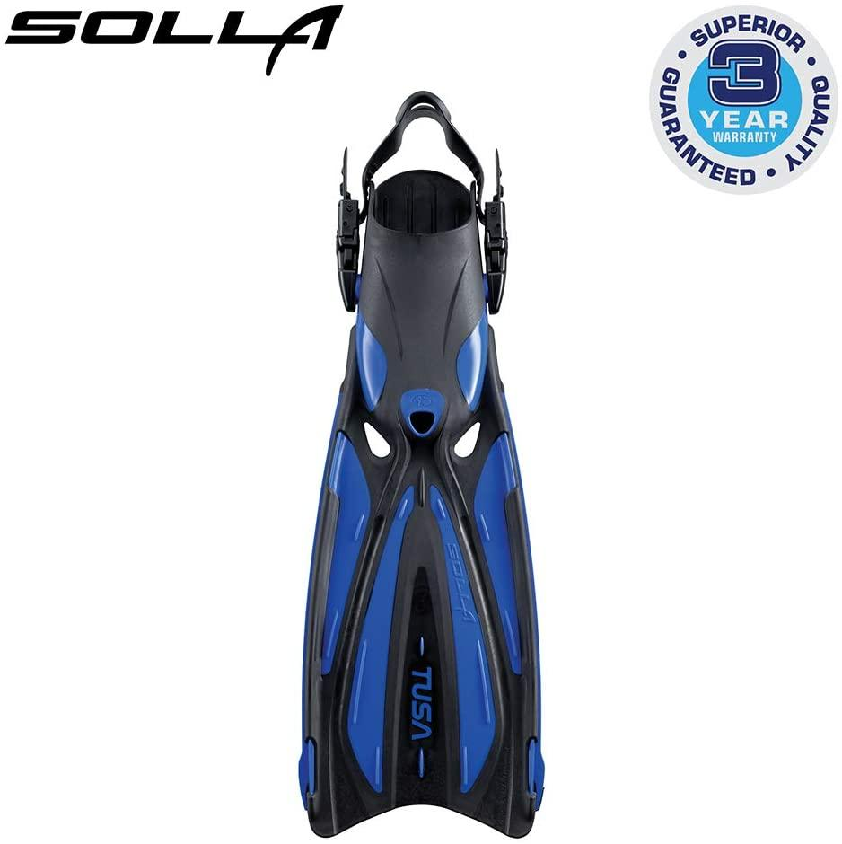 TUSA SF-22 Solla Open Heel Scuba Diving Fins, Small, Cobalt Blue