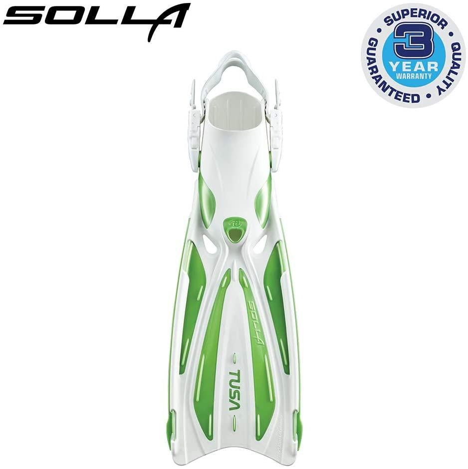 TUSA SF-22 Solla Open Heel Scuba Diving Fins, Small, Siesta Green/White