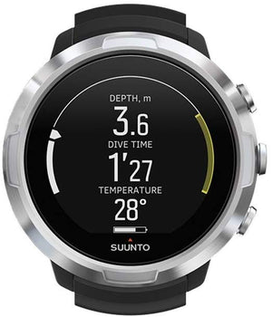 SUUNTO D5 Scuba Diving Wrist Computer with USB Cable & Tank Pods