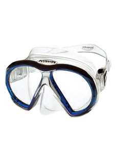 Atomic Aquatics SubFrame Mask - Medium Fit (Clear / Blue)