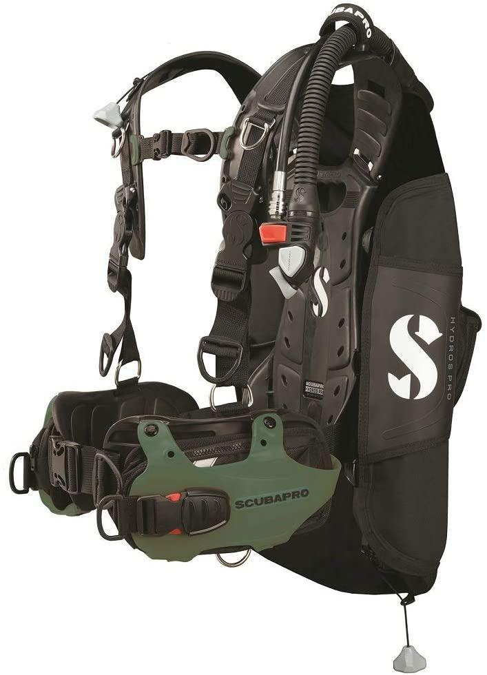 Scubapro Hydros Pro Men's w/Balanced Inflator BCD-Army Green Large