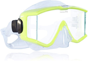 Tilos Single Lens Panoramic Large Wide View Mask for Scuba Diving & Snorkeling (Yellow)